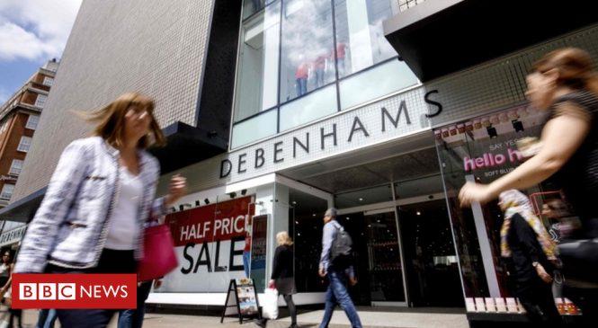 Debenhams shares hit by insurance fears