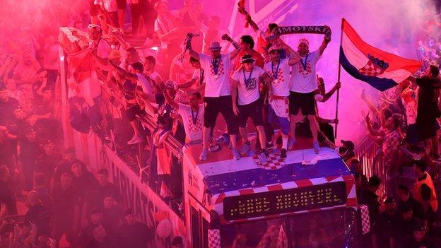 Croatia team bus
