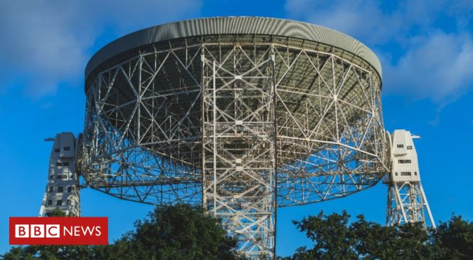 Lovell lights: turning a telescope into an art installation