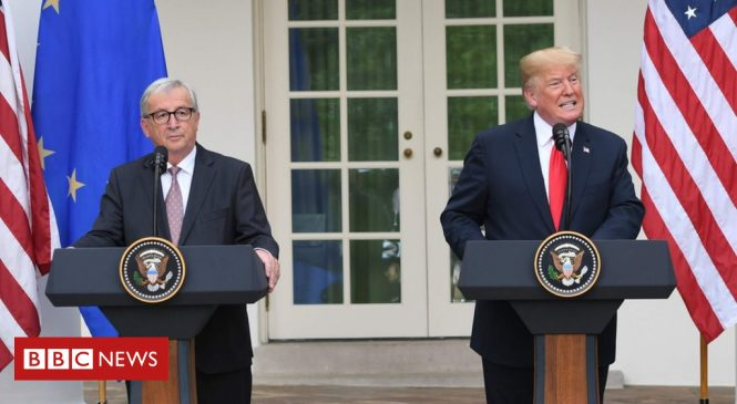 Trump: US and EU agree to work towards lower trade barriers