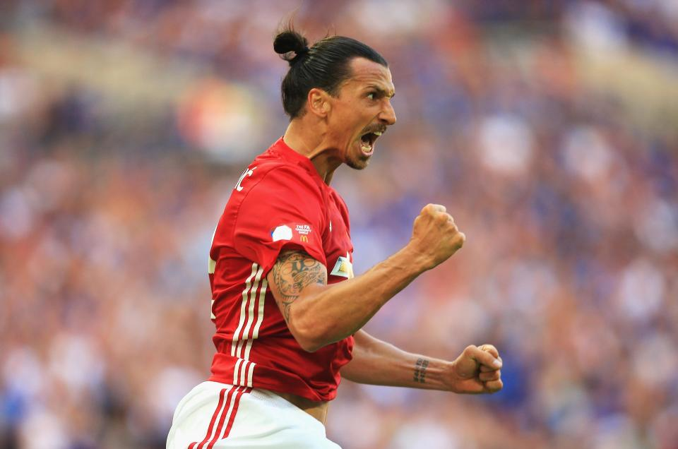Ibrahimovic scored 28 goals in all competitions in his debut season with United