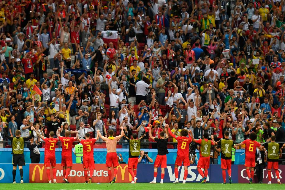 Belgium celebrate their victory