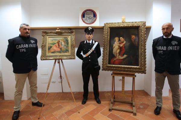 Italian police recover stolen Renoir, Rubens paintings