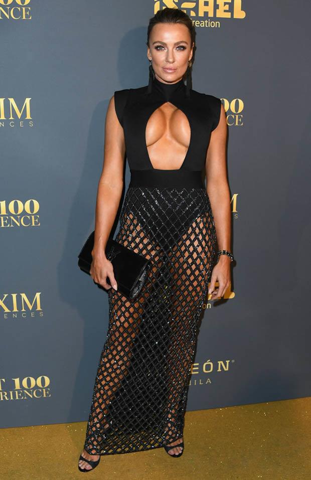 Kristin Ortiz in black dress