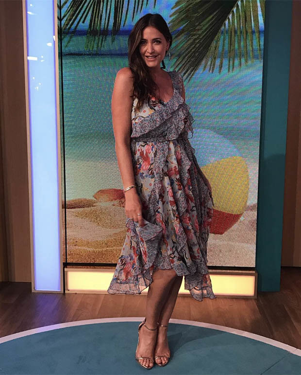 Lisa Snowdon in floral dress