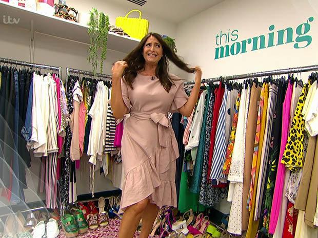 Lisa Snowdon in his Morning fashion cupboard