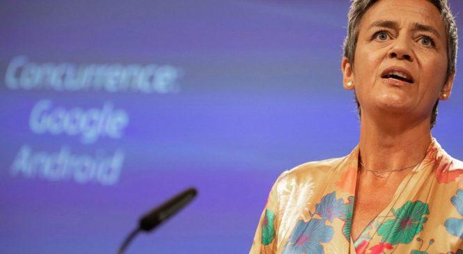 EU fines Google a record $5 billion over mobile practices