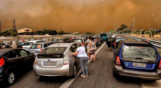 'I've never seen anything like this before in my life,' says man who fled Greece fire