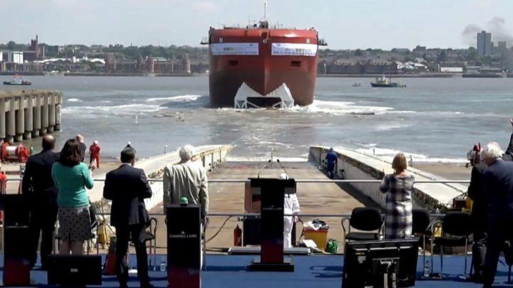 Sir David Attenborough launches 'Boaty' polar ship