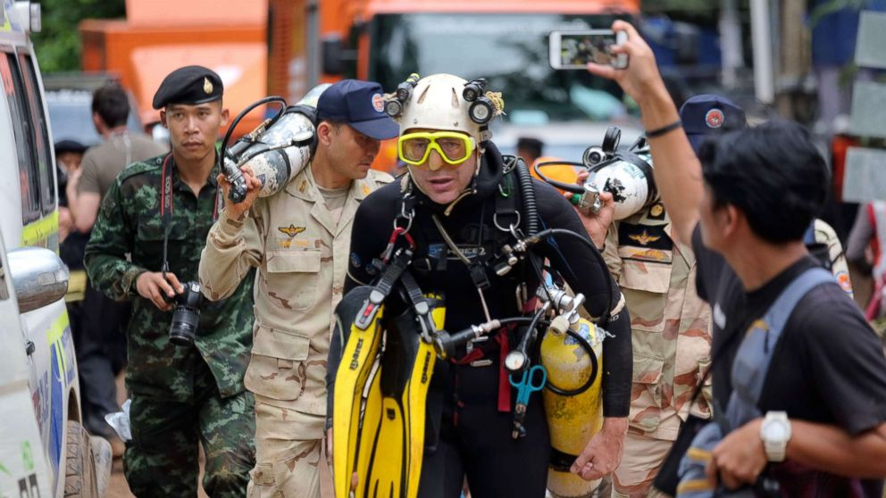 British diver tells Thai boys rescued from cave to 'be careful in the future'