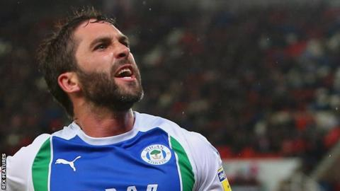 Will Grigg has scored three goals in his past two games for Wigan Athletic