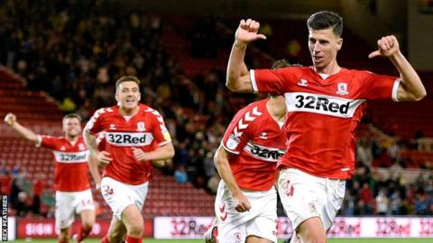 Boro top of Championship after injury-time winner against West Brom
