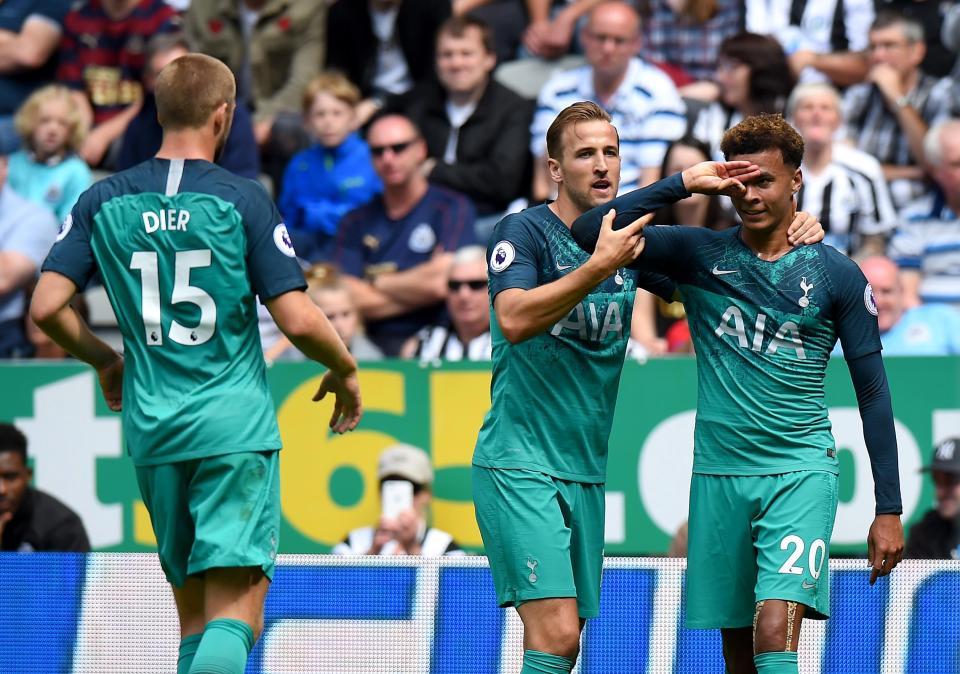 Tottenham Hotspur star Dele Alli shows off his new celebration.