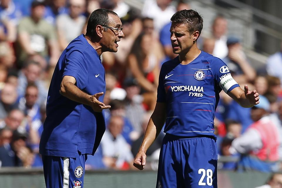 Sarri was only appointed manager of Chelsea in July