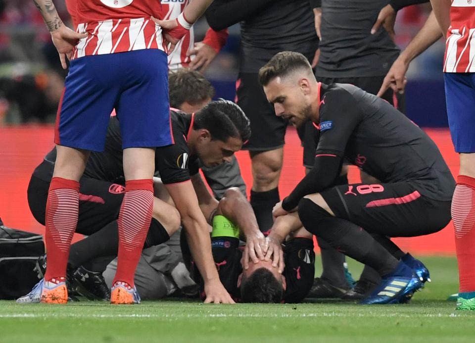 Laurent Koscielny suffered injury heartbreak in the Europa League last season, ruling him out of the World Cup