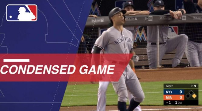Watch: Giancarlo Stanton cheered in return to Miami, Yankees edge Marlins in extras