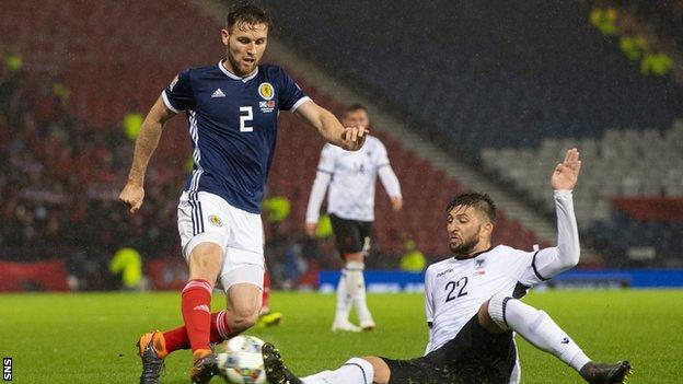 Naismith stars as dominant Scotland beat Albania in Nations League
