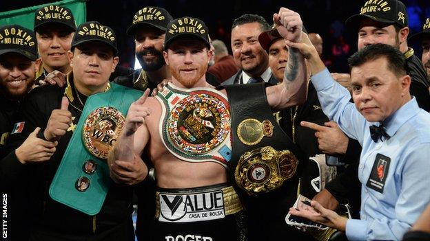 Alvarez is once again a middleweight world champion and has also held world titles at light-middleweight
