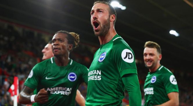 Southampton 2-2 Brighton: Late Glenn Murray penalty completes Seagulls fightback
