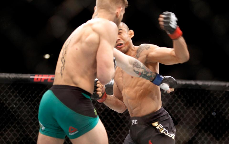 McGregor took just one punch and 13 seconds to knock out Jose Also
