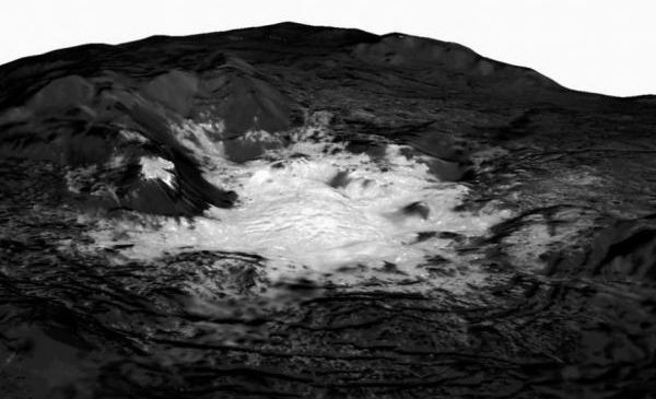 Mosaic showcases Ceres' brightest bright spot