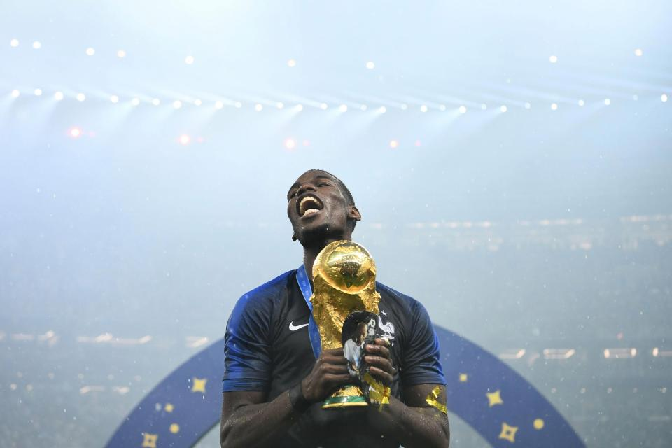 Pogba was one of France's best players as they won the World Cup this summer