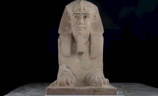 Ptolemaic period sphinx statue discovered at Egyptian temple