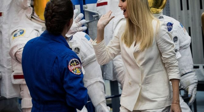 Ivanka Trump tours NASA center in Houston, calls space crew