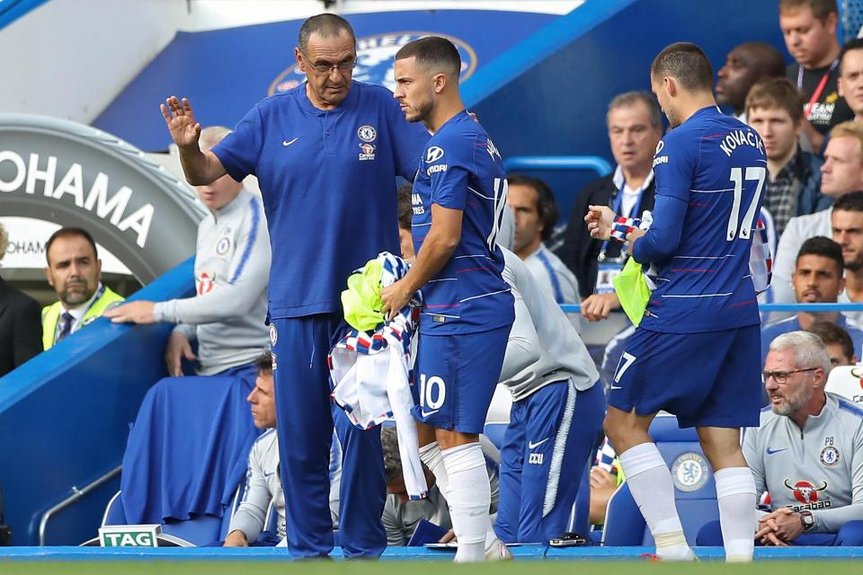 Sarri encourages Hazard to enjoy his football