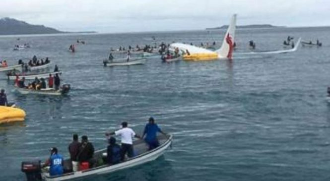No serious injuries initially reported as Boeing 737 lands in ocean near Micronesia
