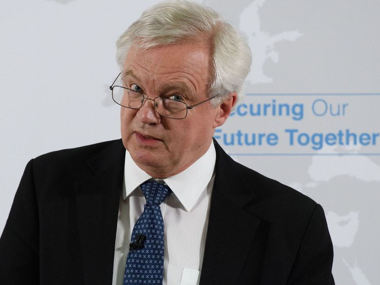 Secretary of State for Exiting the European Union David Davis delivers a speech in London, on the UK's vision for our future security relationship with the EU.