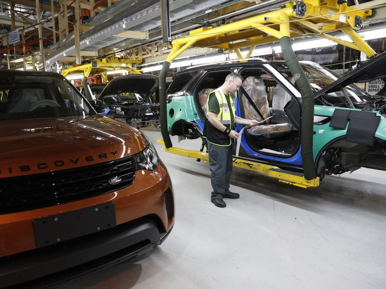 JLR's UK plants, including this one in Solihull, employ 40,000 people