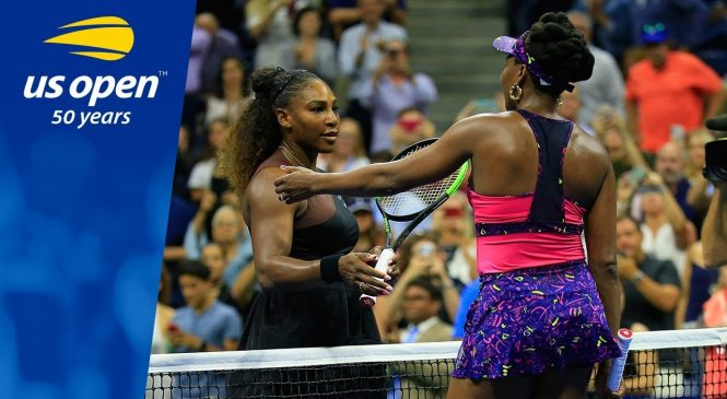 Watch: Serena Williams knocks sister Venus Williams out of 2018 U.S. Open