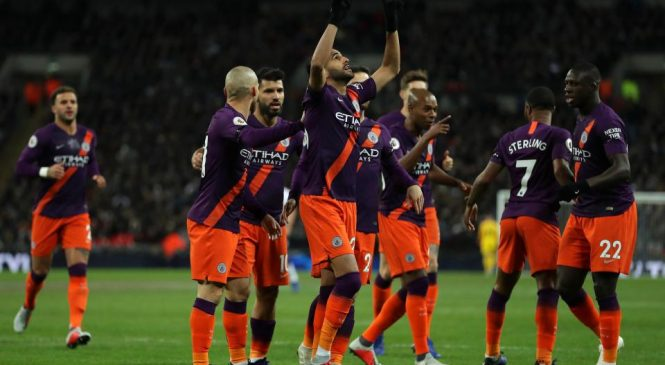 Tottenham 0-1 Manchester City: Riyad Mahrez goal sends City back to the top of the Premier League