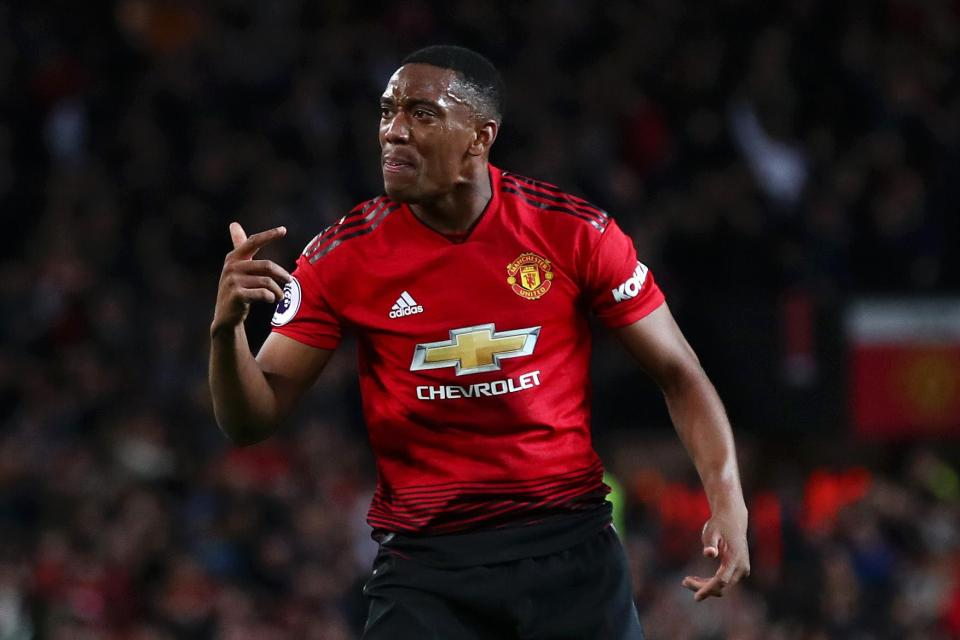 Anthony Martial has scored 38 goals in 144 games for Manchester United