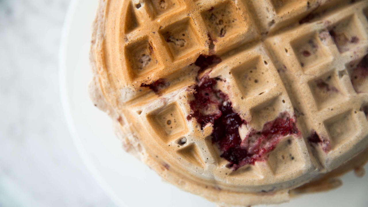 Mix Leftover Cranberry Sauce Into Your Waffle Batter
