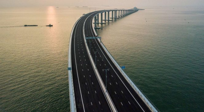 World's longest sea bridge opens after 9 years of construction