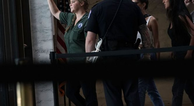 Amy Schumer detained during anti-Kavanaugh protest