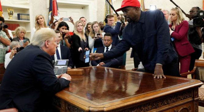 Trump's stunned silence as Kanye rants in White House
