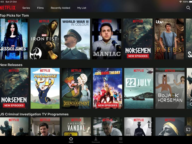 Netflix serves up recommendations to all of its subscribers