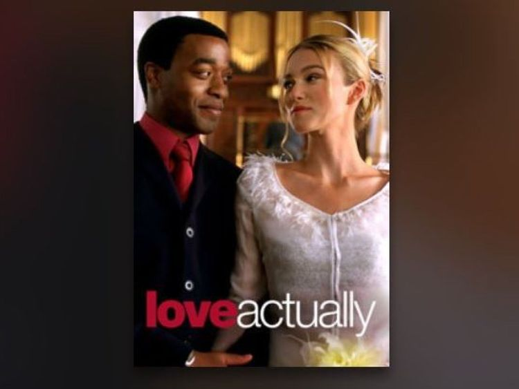 This version of the Love Actually poster prominently features Chiwetel Ejiofor. Pic: @slb79