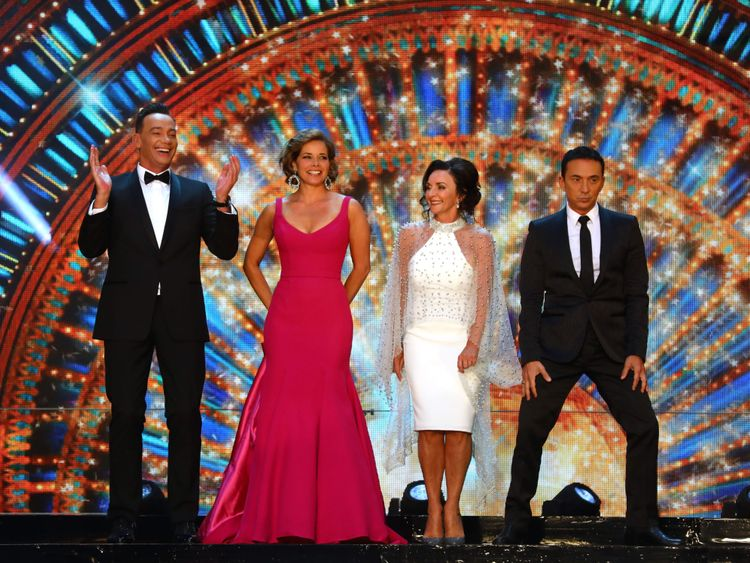 Craig Revel-Horwood, Darcey Bussell, Shirley Ballas and Bruno Tonioli  attend the red carpet launch for Strictly Come Dancing 2018