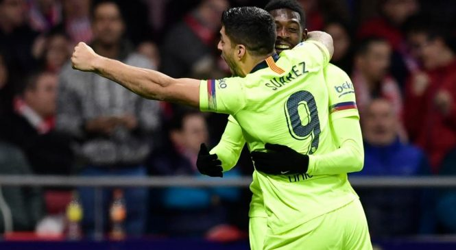 Atletico Madrid 1-1 Barcelona: Late goals from Diego Costa and Ousmane Dembele result in score draw