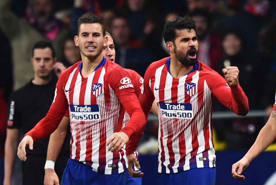 Diego Costa put Atleti ahead late on