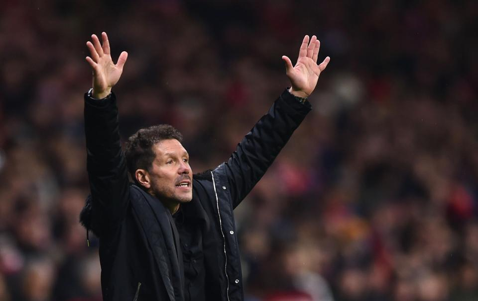 Diego Simeone was animated as ever