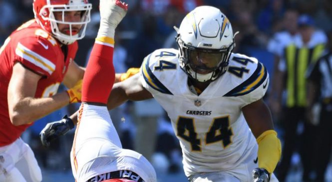 Los Angeles Chargers place LB Kyzir White on IR