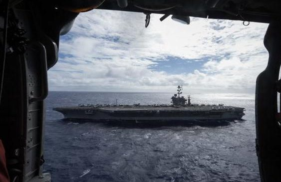 USS John C. Stennis carrier strike group docks in Singapore
