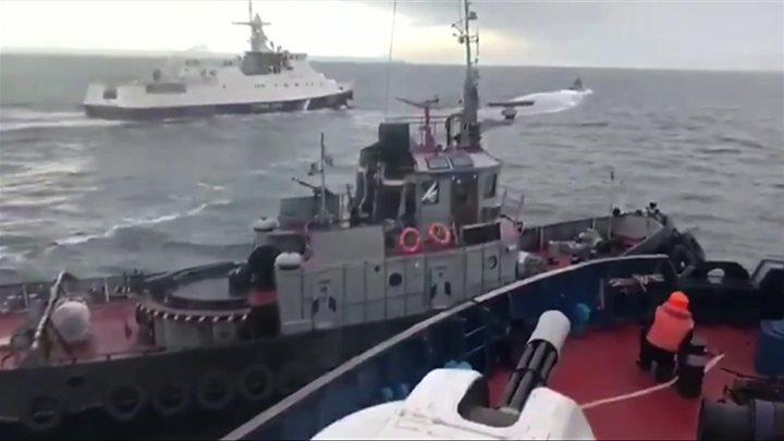 Ukraine-Russia sea clash: Captured sailors shown on Russia TV