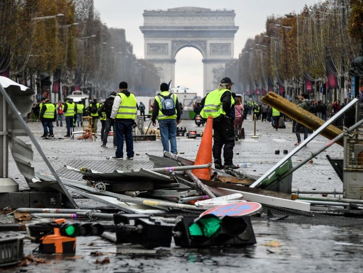 Protesters are furious at the rising price of diesel - with some calling Emmanuel Macron a 'thief'