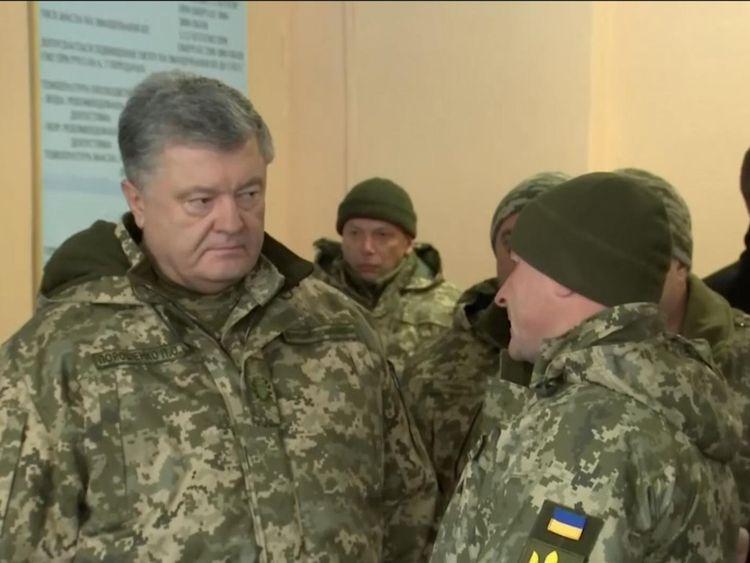 Petro Poroshenko says he is ready to defend Ukraine